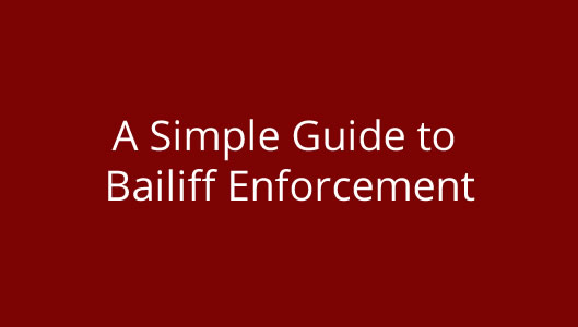 Bailiff Advice Newsletter